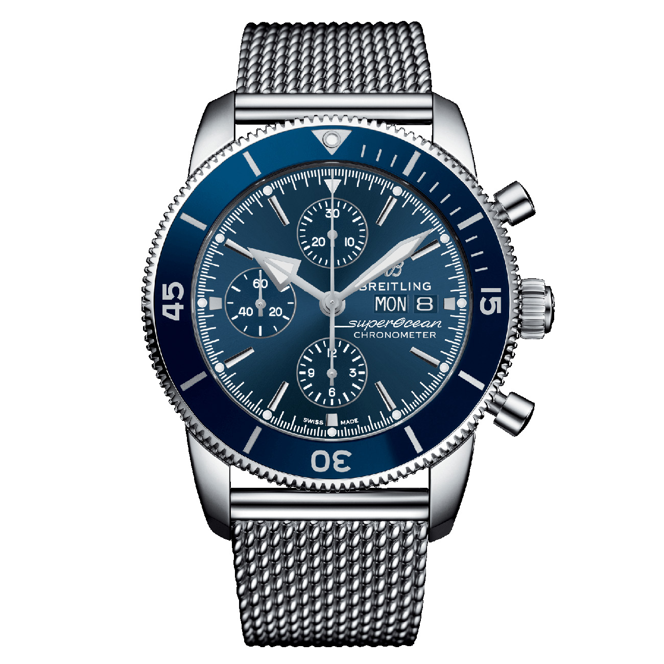 7fabc48276df Reloj Breitling SUPEROCEAN HÉRITAGE II CHRONOGRAPH 44 Azul Ocean Classic