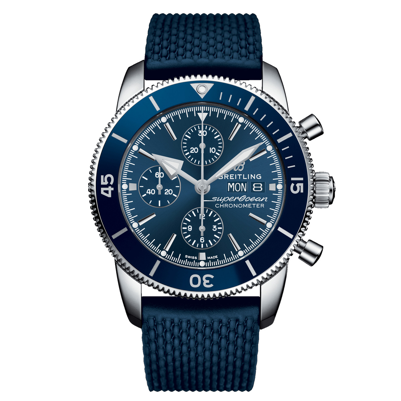 4a573b851e69 Reloj Breitling SUPEROCEAN HÉRITAGE II CHRONOGRAPH 44 Azul Aero Classic