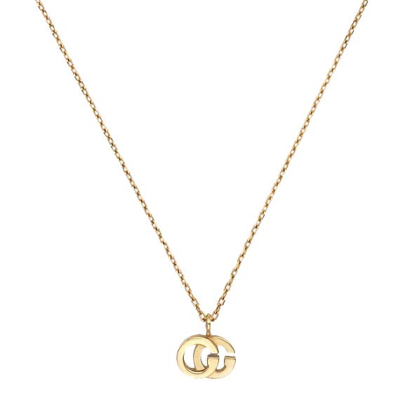 fe3b74d21b80 Collar Gucci de Oro Amarillo con Doble G y Topacio